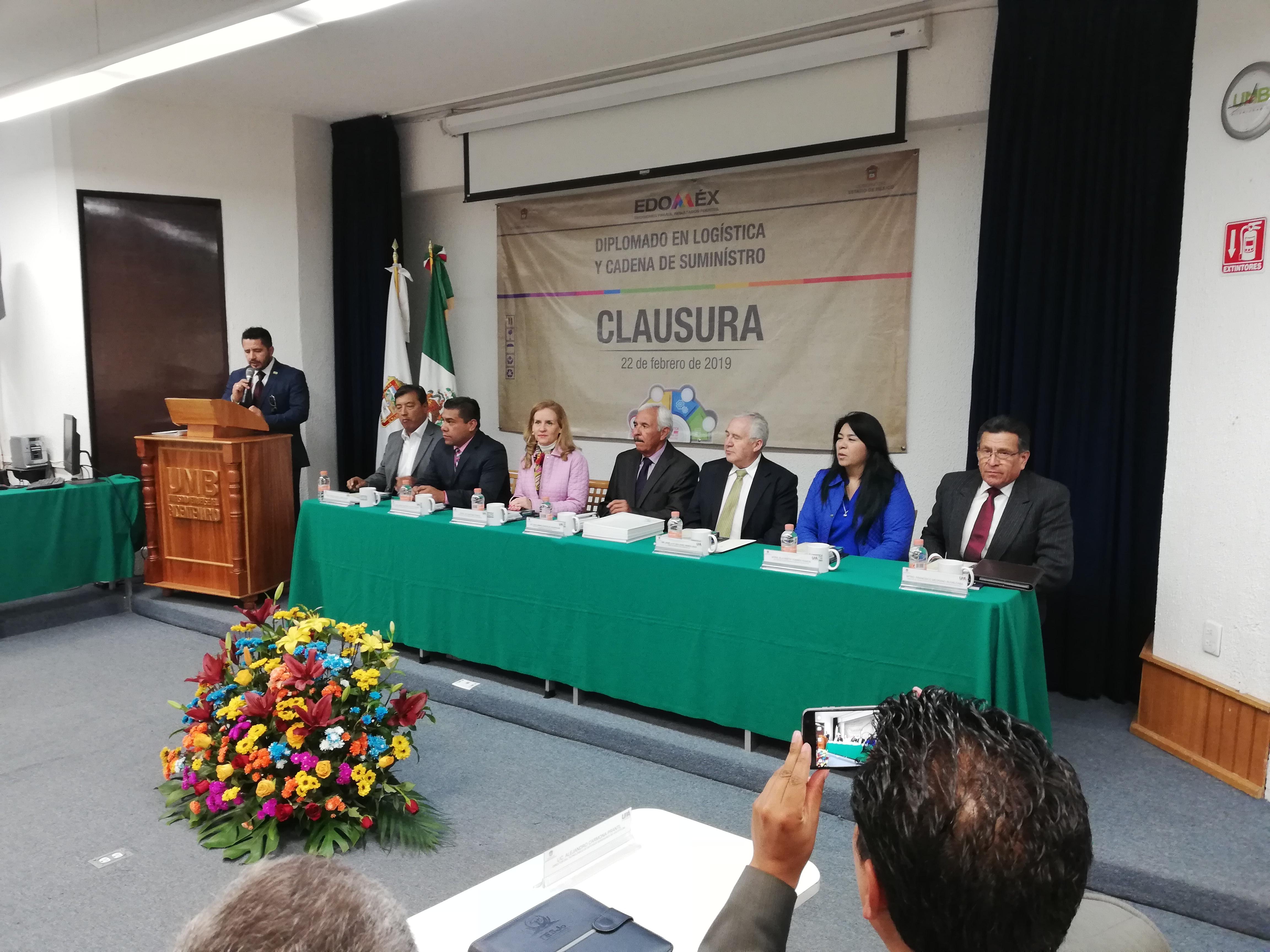 Clausura del Diplomado en logística y cadena de suministro en el Estado de México